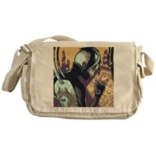 Cyberpunk Hacker Girl Messenger Bag