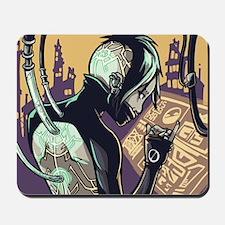 Cyberpunk Hacker Girl Mousepad