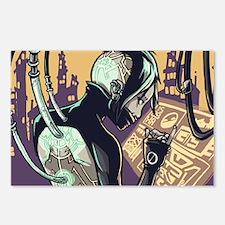 Cyberpunk Hacker Girl Postcards (Package of 8)