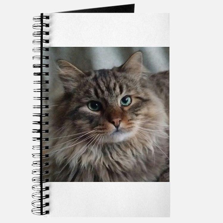 Siberian Tabby Cat face Journal