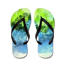 Landscape Trees and Water Hold Flip Flops