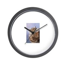 siberian tabby cat profile Wall Clock