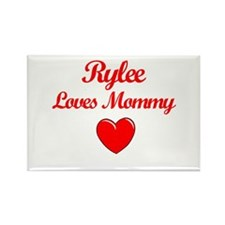 Rylee Loves Mommy Rectangle Magnet