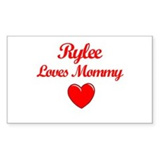 Rylee Loves Mommy Rectangle Decal