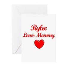 Rylee Loves Mommy Greeting Cards (Pk of 10)