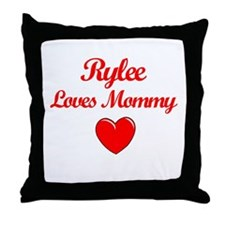 Rylee Loves Mommy Throw Pillow