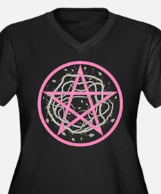 Pentagram with Thorny Vines Plus Size T-Shirt