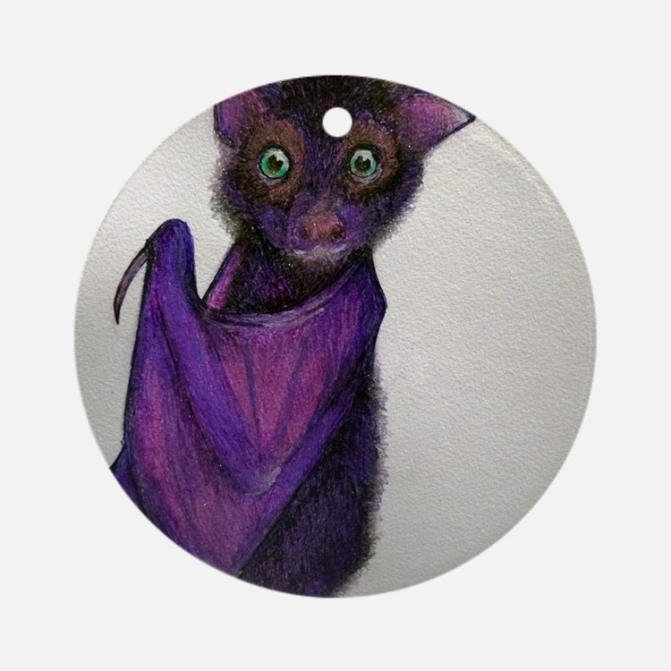 Cute Baby bats Round Ornament