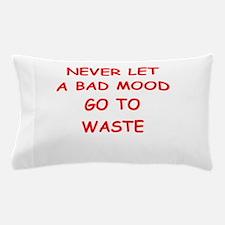 bad mood Pillow Case