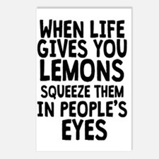 When Life Gives You Lemon Postcards (Package of 8)