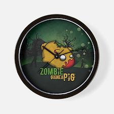 Cute Zombie pig Wall Clock
