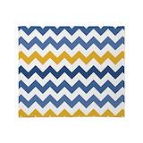 Blue yellow chevron Blankets