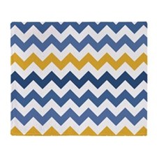 Ducky Splash Chevron Pattern Throw Blanket