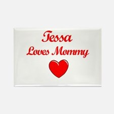 Tessa Loves Mommy Rectangle Magnet