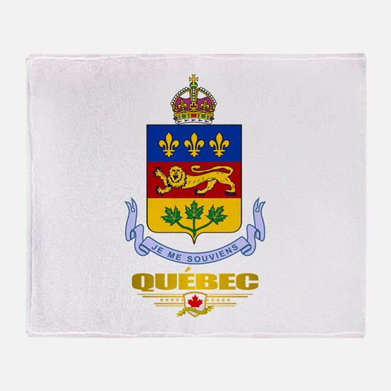 Quebec Coa Throw Blanket