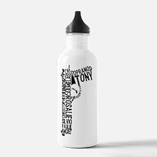 Sopranos Text Water Bottle