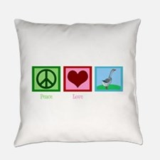 Peace Love Geese Everyday Pillow