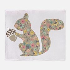 Funny Squirrel Throw Blanket