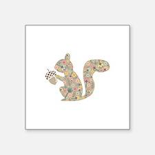 floral squirrel Sticker