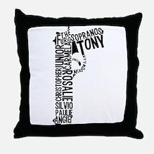 Sopranos Text Throw Pillow