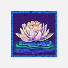 "lotus blossum Square Sticker 3"" x 3"""