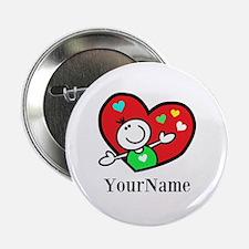 """Happy Heart (p) 2.25"""" Button"""