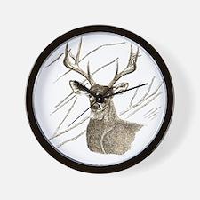 Brown Deer Wall Clock