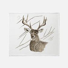 Brown Deer Throw Blanket