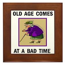 OLD AGE Framed Tile