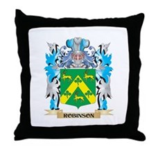 Robinson Coat of Arms - Family Crest Throw Pillow