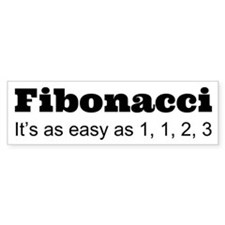 Fibonacci Bumper Car Sticker