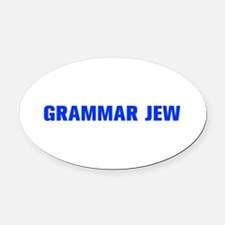 Grammar Jew-Akz blue 500 Oval Car Magnet