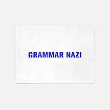 Grammar Nazi-Akz blue 500 5'x7'Area Rug