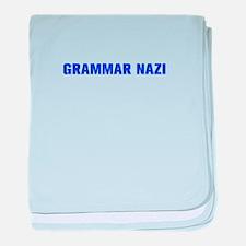 Grammar Nazi-Akz blue 500 baby blanket