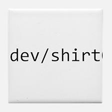 /dev/shirt0 Tile Coaster