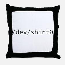/dev/shirt0 Throw Pillow