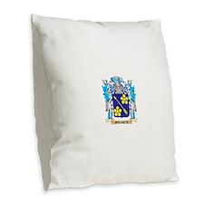 Rodarte Coat of Arms - Family Burlap Throw Pillow
