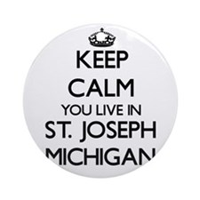 Keep calm you live in St. Joseph Ornament (Round)