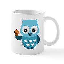 Pretty Blue Owl Mugs