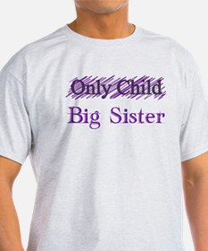 Only Child to Big Sister T-Shirt
