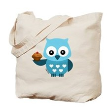 Pretty Blue Owl Tote Bag