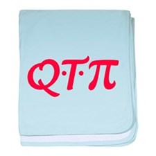 Q*T*Pi Red baby blanket
