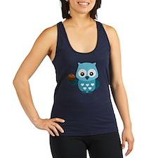 Pretty Blue Owl Racerback Tank Top
