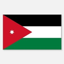 Jordan Flag Sticker (Rectangle)
