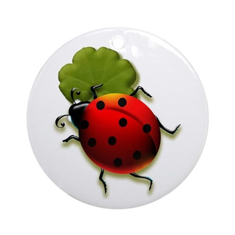 Ladybug Ornament (Round)