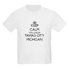 Keep calm you live in Tawas City Michigan T-Shirt