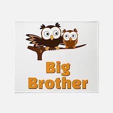 Big Brother Owl Throw Blanket