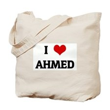 I Love AHMED Tote Bag