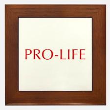 Pro Life-Opt red 550 Framed Tile