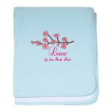 LOVE IN THE AIR baby blanket